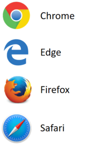 ALA Supported Browser logos