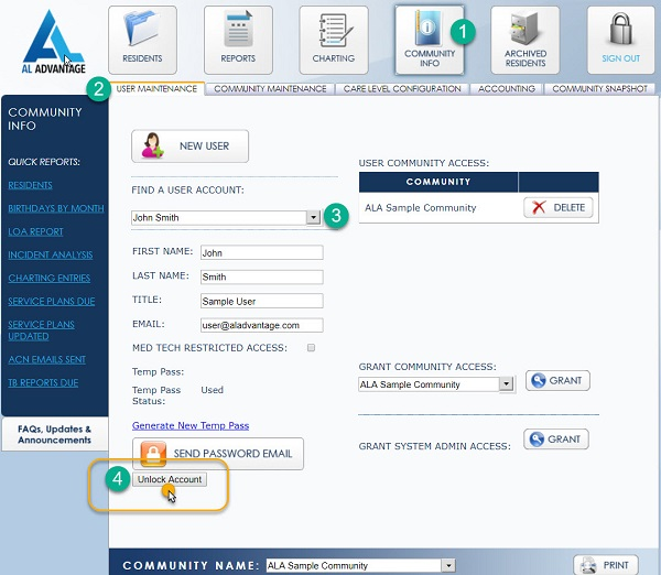 Unlock User account - New