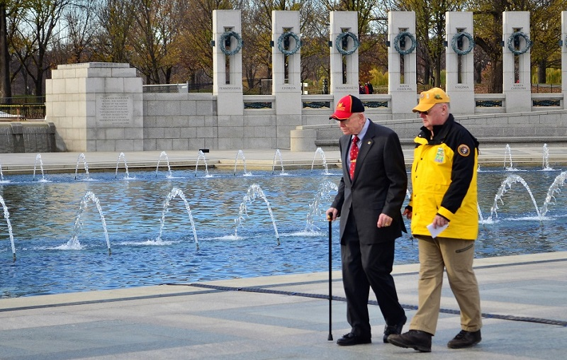 Senior Veteran at World War II Memorial