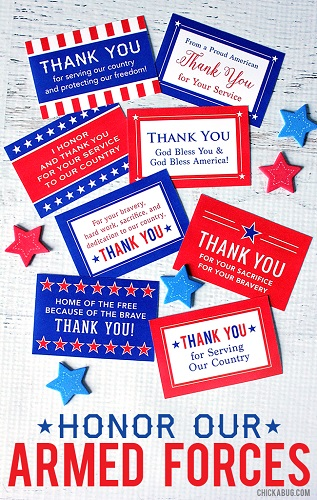 Armed Forces Thank You Cards